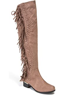 ded593f1b Lady Couture Mircosuede Fringe Women s Knee Length Boots by Fringe