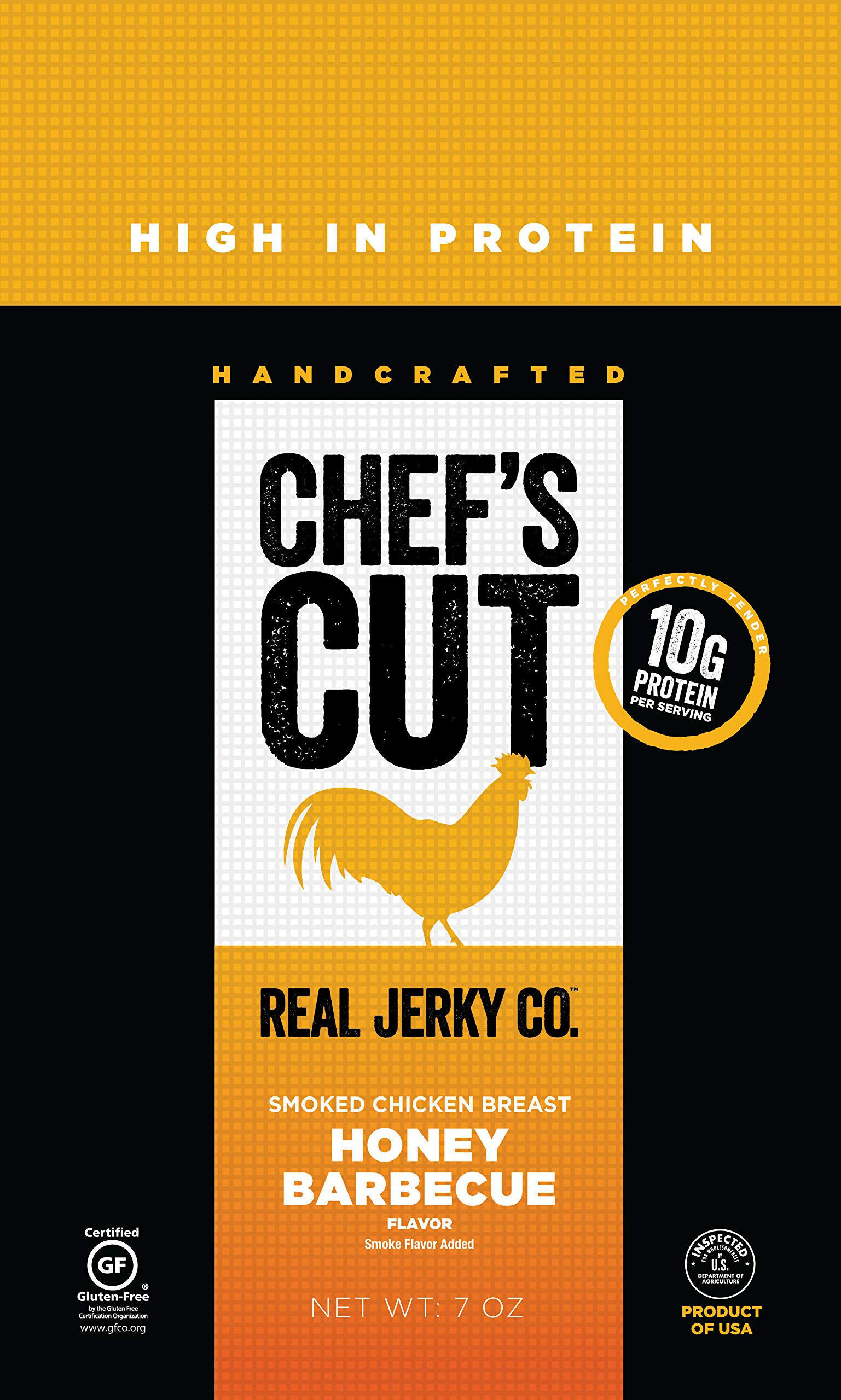 Chef's Cut Real Smoked Chicken Breast Honey Barbecue Jerky - Premium Cuts, Gluten & Nitrite Free - Paleo Friendly, 14 Ounce