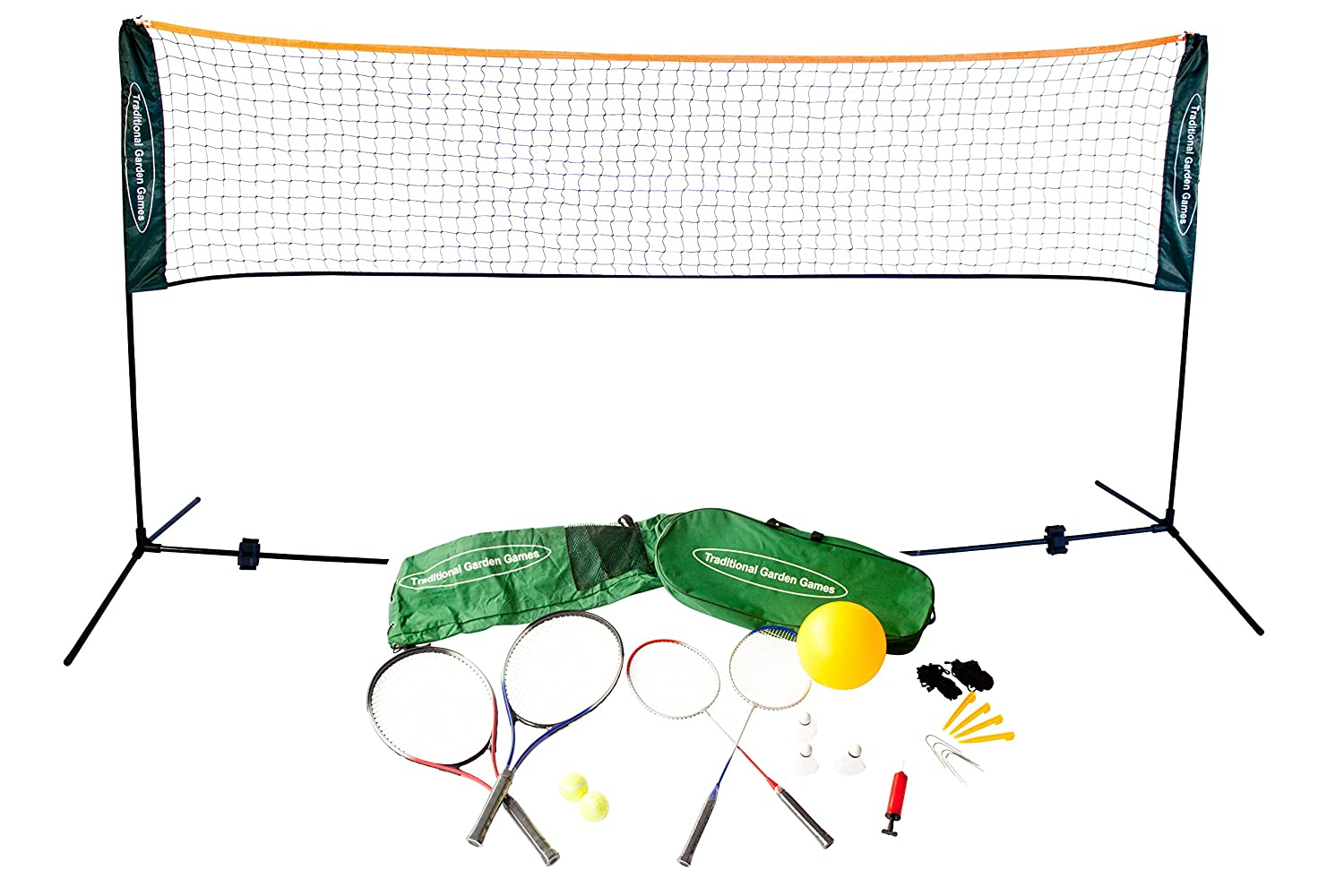 Traditional Garden Games 5 m Badminton Volleyball und Tennis Spielset