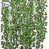 12 Strands Artificial Ivy Garland Flowers Ivy Hanging Vine Plant for Home Garden Decor 84Ft