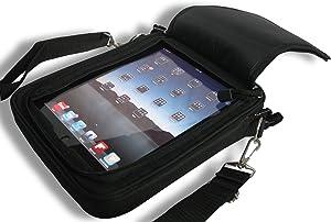 Padded Ballistic Nylon Hybrid Travel Case w/Strap for iPad 1, iPad 2, iPad 3, iPad 4 (Black)