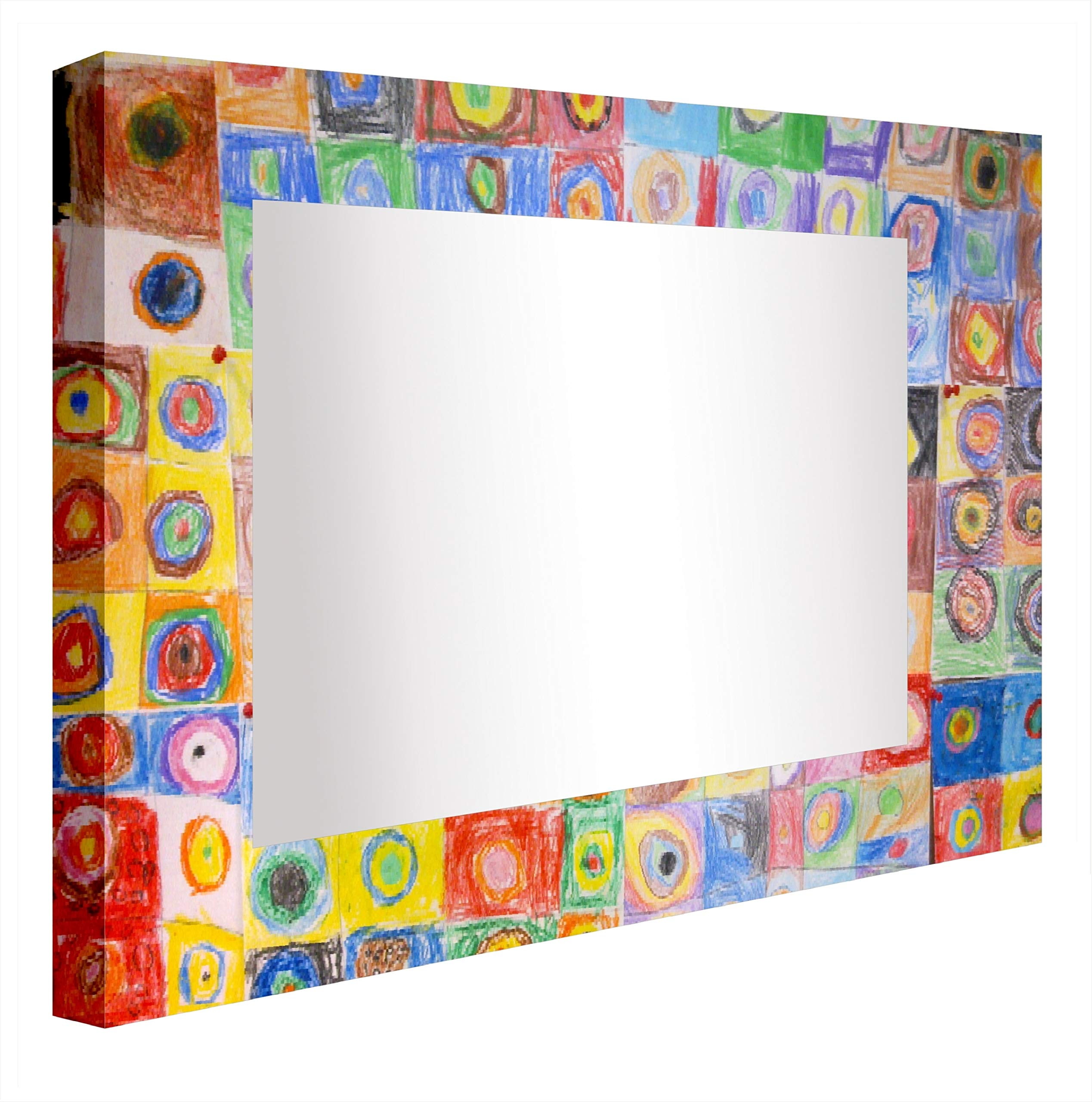 Ccretroiluminados Kandinsky Illuminated Bathroom Mirror, Acrylic, Multicoloured, 60 x 5.3 x 60 cm