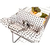 BINXY BABY 2-in-1 Cushy Cart Cover and High Chair Cover | Universal Fit | Includes Storage Pouch (Triangle)