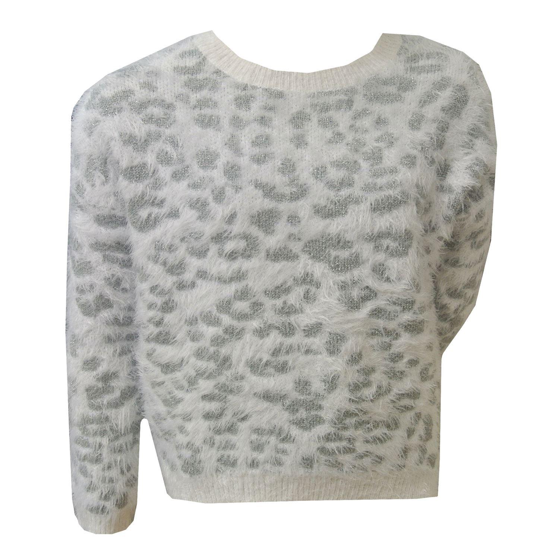 Mayoral - Sweater Pullover Mädchen. weiß-grau 7.319