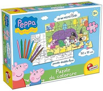 Giochi Di Peppa Pig Colorare.Liscianigiochi 43231 Puzzle Da Colorare La Festa In Maschera Di Peppa Pig