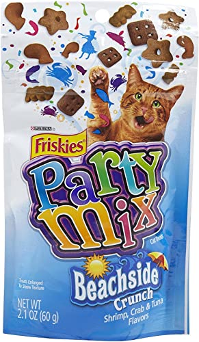 Purina Friskies Party Mix Beachside Crunch 2.1 OZ Each . Pack of 4