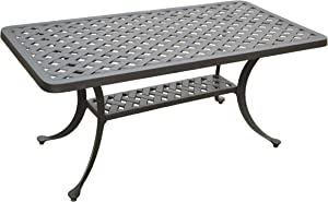 Crosley Furniture CO6201-BK Sedona Solid-Cast Aluminum Outdoor Cocktail Table, Black