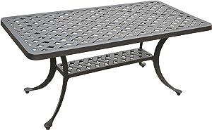 Crosley Furniture Sedona Solid-Cast Aluminum Outdoor Cocktail Table, Black