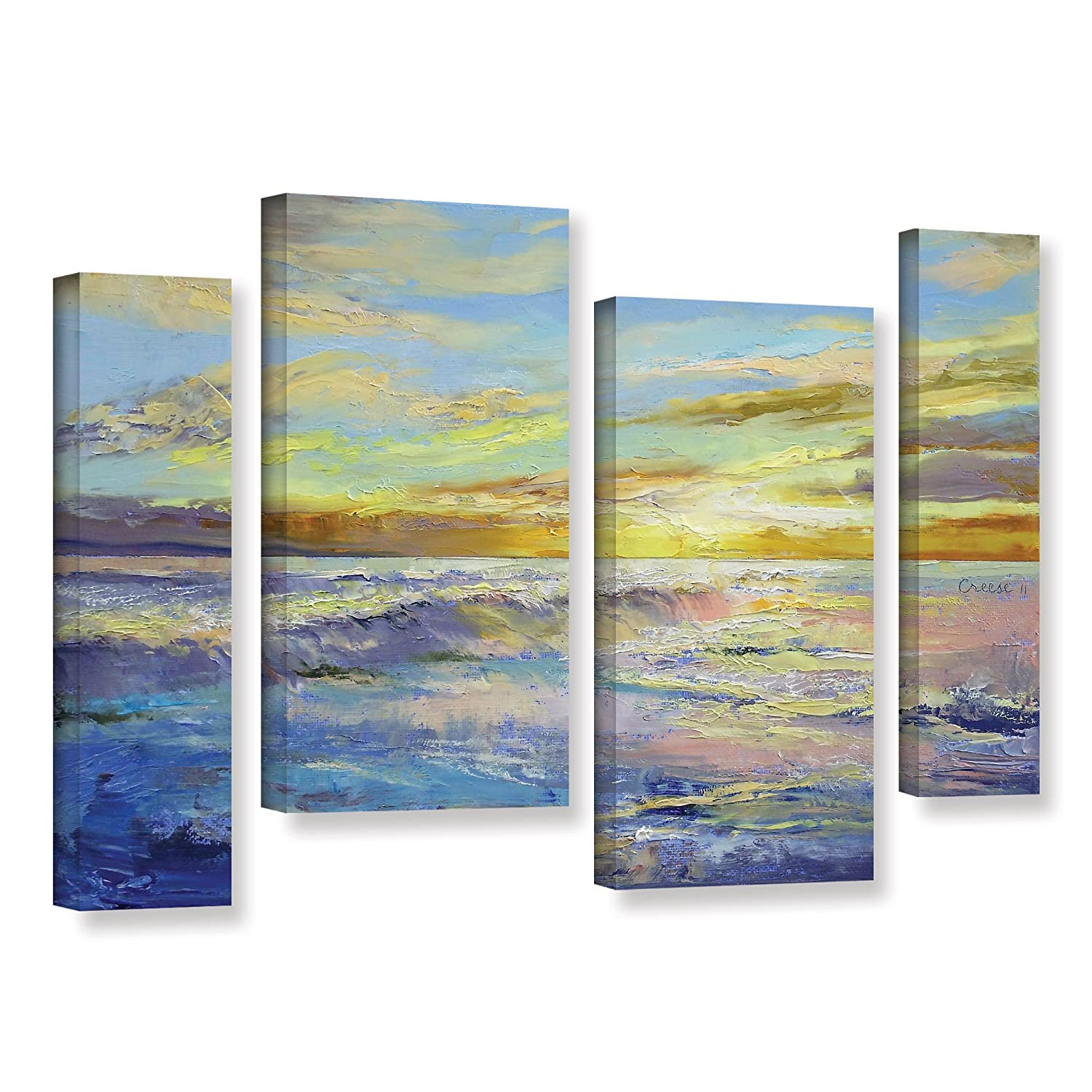 ArtWall Marina Petros Autumn Mist 4 Piece Gallery-Wrapped Canvas Staggered Set 36 by 54