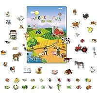 GrandLmoon Magnetic Portable Playboard Farm Life (58 Pcs )