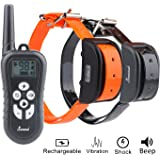 Cuterpet Remote Dog Shock Collar,Rechargeable and Waterproof Training Collar with Beep, Vibration and Shock Electronic Collar for 2 Dogs