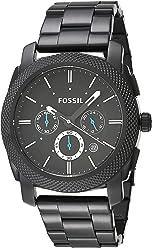 FOSSIL Machine / Montre chronographe homme en acier inoxydable - Afficheur de date - Boîte de rangement et pile incluses