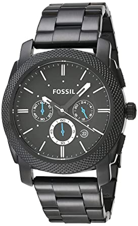 b9613ca53cd Amazon.com  Fossil Men s Machine Quartz Stainless Steel Chronograph ...
