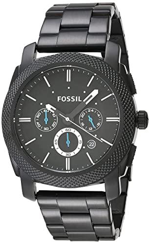 94f7ad7d1f56 FOSSIL Machine Chronograph Black Stainless Steel Watch   Analogue Men s  Watch with Quartz Movements - Stopwatch and Timer Functionality  Fossil  ...
