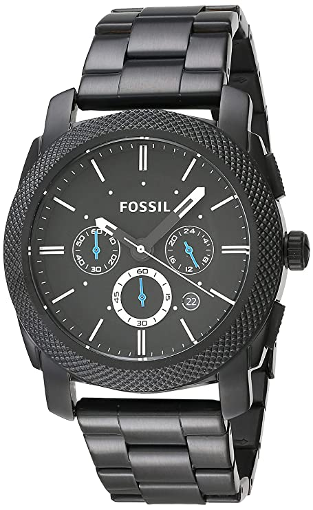e38c1bcd2dbb FOSSIL Machine Chronograph Black Stainless Steel Watch   Analogue Men s  Watch with Quartz Movements - Stopwatch and Timer Functionality  Fossil  ...
