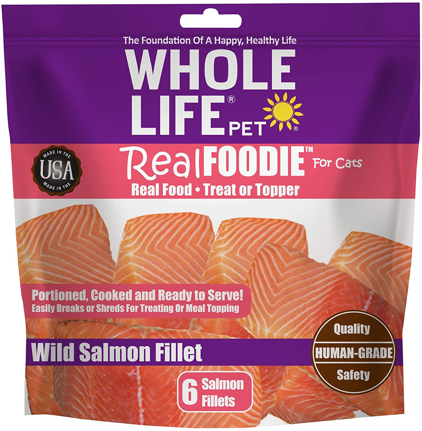 Whole Life Pet RealFoodie USA Sourced and Produced Freeze Dried Whole Boneless, Skinless Wild Tuna Fillet Treat or Meal Mixer for Cats