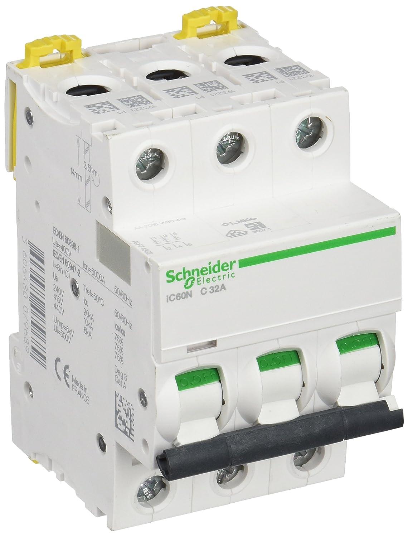 Schneider A9f74332 Miniature Circuit Breaker Ic60n 3 Poles 32 Off Module View A C Curve Industrial Scientific