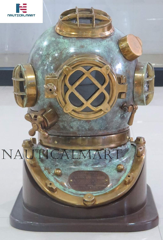 "Solid Brass Full Size 18/""Antique Style Morse Diving Helmet U.S Navy Mark V"