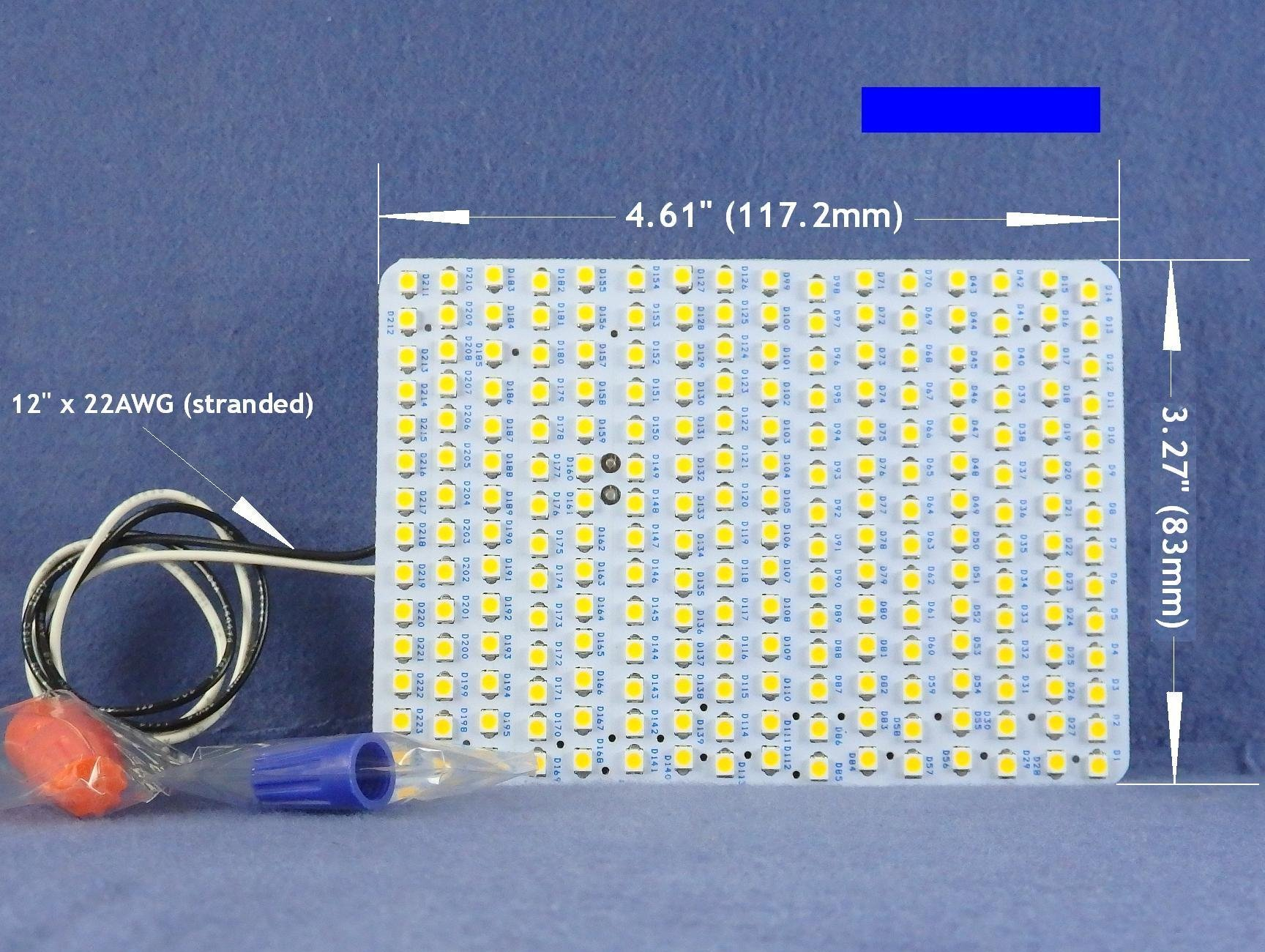 WATER-RESISTANT COOL WHITE LED Panel (6000K) --1800Lumens 9Watts -- for Conversion of FML27W Fluorescent lamps. P/N: SPTL224FML-CW