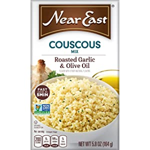 Near East Couscous Mix, Roasted Garlic & Olive Oil ,5.8 ounce (Pack of 12 Boxes)