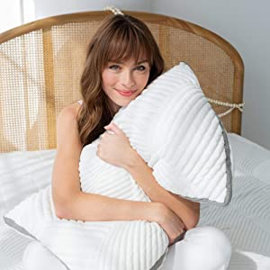 Brentwood Home Cypress Pillow, Cool, Breathable, and Hypoallergenic, Made in California, Queen Size