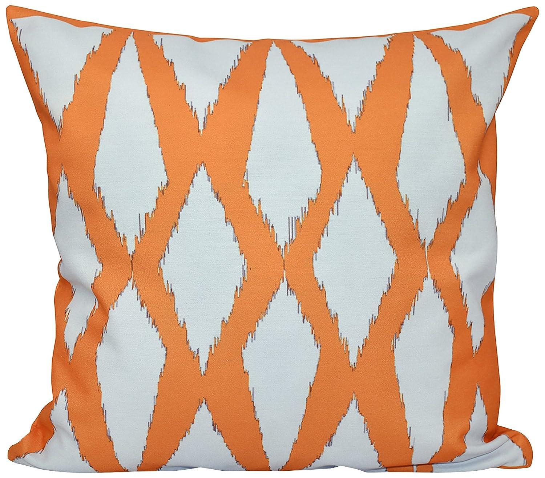 E by design PG-N32-Purple-18 Geometric Decorative Pillow Purple