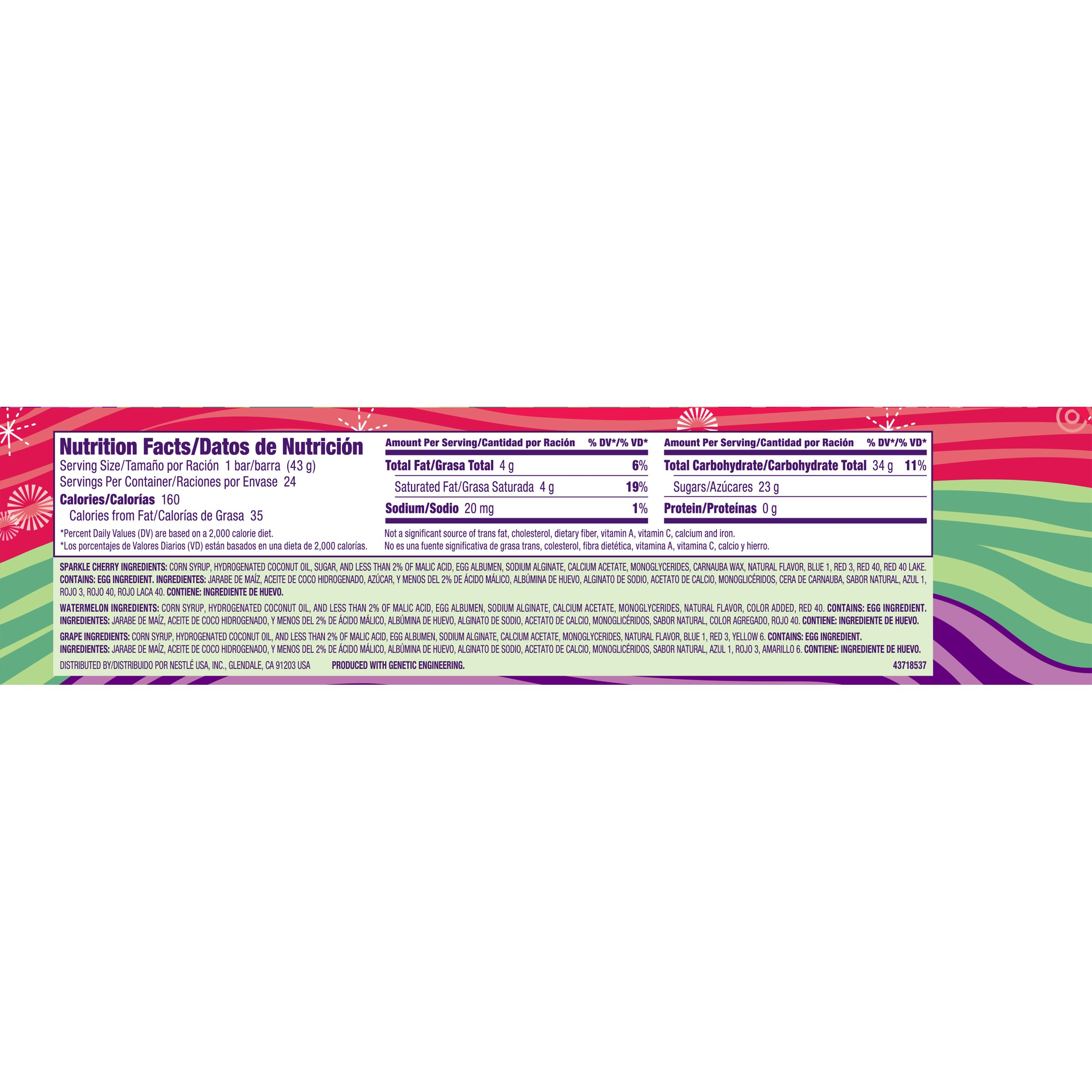 Laffy Taffy Stretchy & Tangy Variety Pack, Watermelon Cherry & Grape, 1.5 Ounce Bars (Pack of 24) by Laffy Taffy
