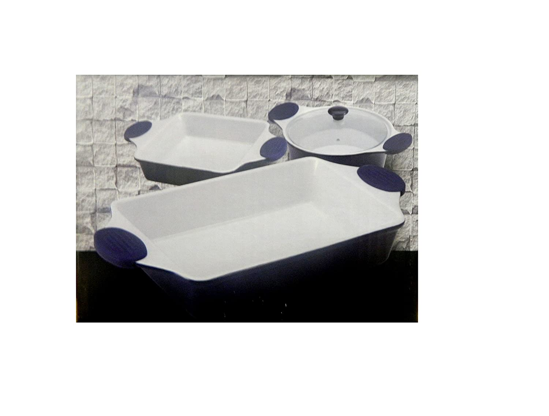 Bergner Stoneware Bakeware Set 3Pc Blue