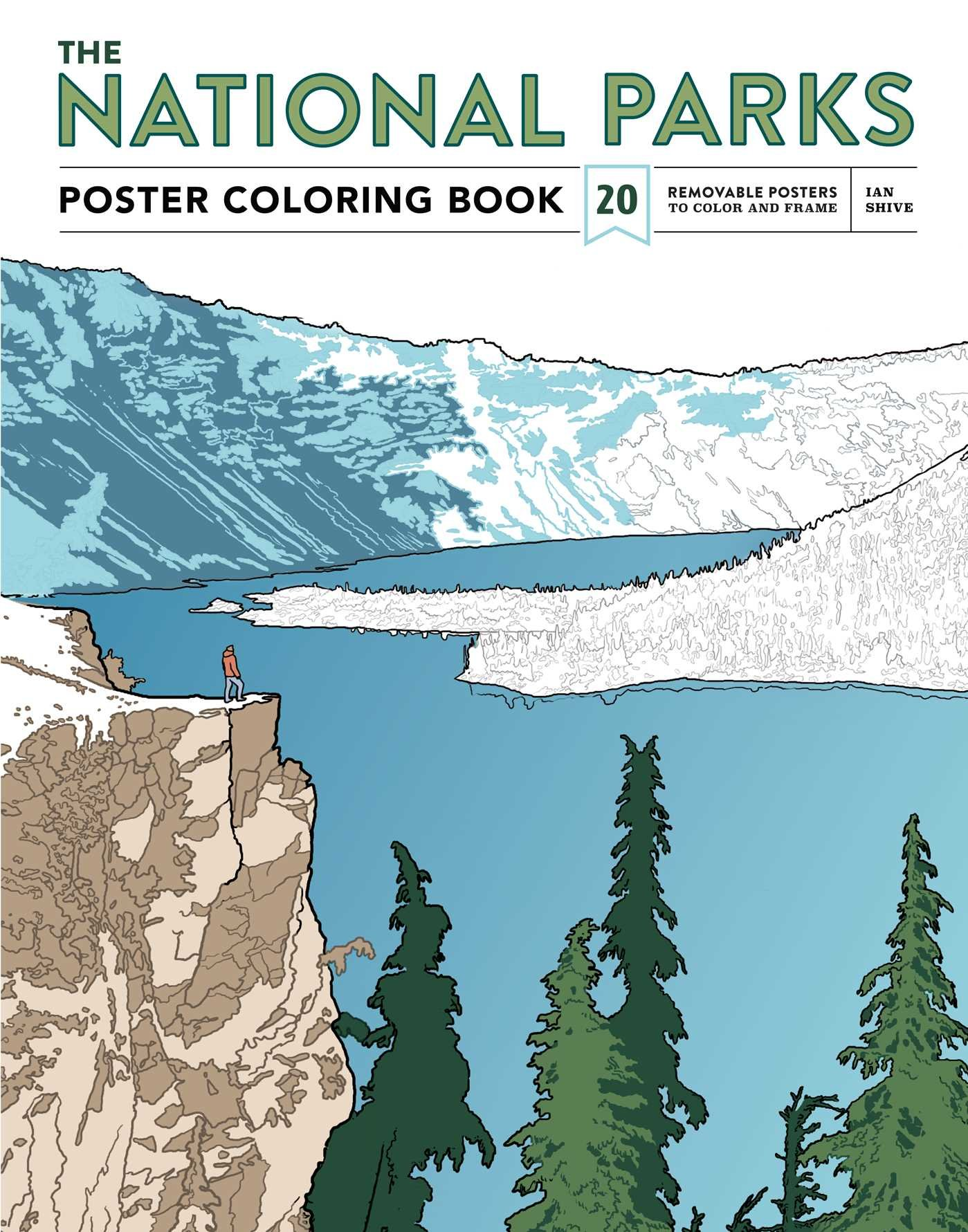 Download The National Parks Poster Coloring Book: 20 Removable Posters to Color and Frame pdf epub