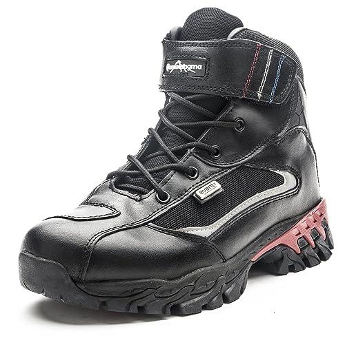 Amazon.com: Botas de tobillo de piel impermeable para ...