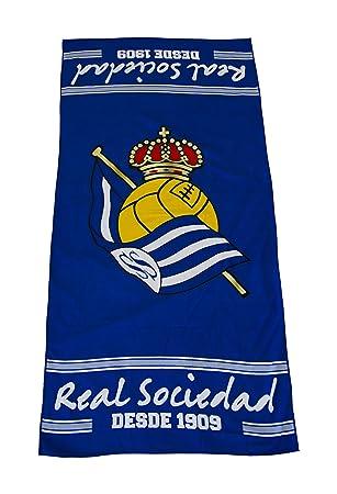 Real Sociedad Toarso Toalla, Azul/Blanco, Talla Única: Amazon.es: Deportes y aire libre