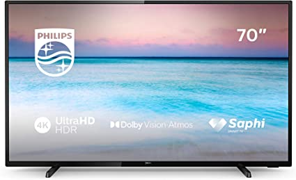 Philips 70PUS6504 - Smart TV LED 4K UHD de 70
