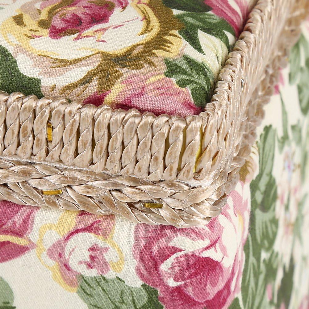 GOTOTOP Stoff Floral Bedruckt N/ähkorb Craft Box Haushalt Diverse Speicherorganisator mit Griff