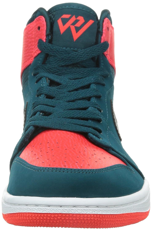best authentic a9b68 48b61 Amazon.com   Nike Jordan Mens Air Jordan 1 Retro High Teal Black Infrared 23 White  Basketball Shoe 11 Men US   Basketball