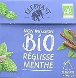 Elephant Infusion Réglisse Menthe 20 Sachets Pyramides - Lot de 4