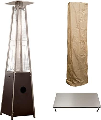 Hiland HLDSO1-GTHG 91-Inch Tall Quartz Glass Tube Heater
