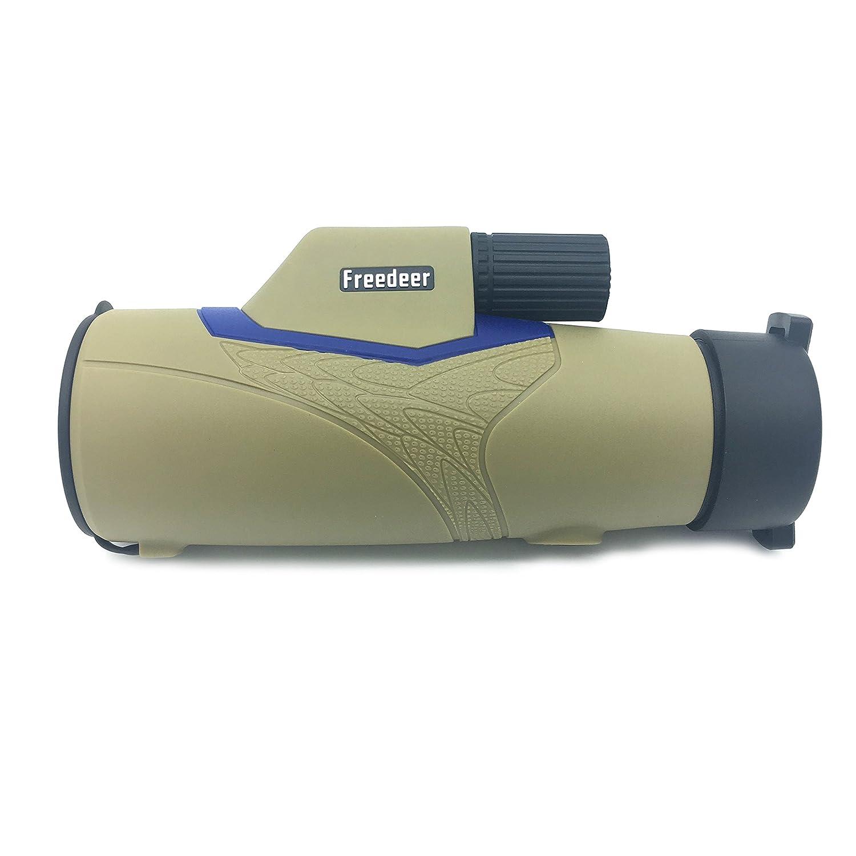 silfrae 10 x 42コンパクトMonocular望遠鏡Single Handフォーカス双眼鏡for旅行、ハイキング、キャンプ、Bird Watching B071JYDZVT ベージュ ベージュ