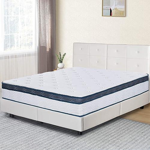 Olee Sleep 12 Inch Euro Top Gel Memory Foam Spring Hybrid Mattress Full