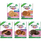 Girl Scouts Cookie Oven Refills Thin Mints, Chocolate PB, Trefoils, PB Sandwich & Caramel Coconut Complete Gift Set Bundle - 5 Pack