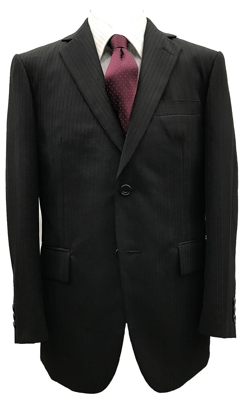 オールシーズン【大きいサイズ有】アジャスター付ウォッシャブルスーツ(黒織り柄) B07FBH184V AB4