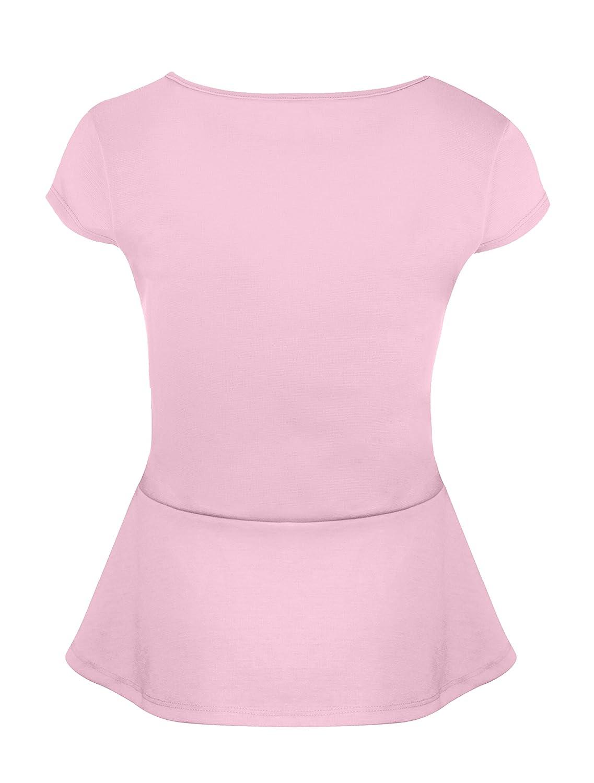 f6007a0d8c49c Simlu Short Sleeve Womens Peplum Shirt Made in USA at Amazon Women s  Clothing store