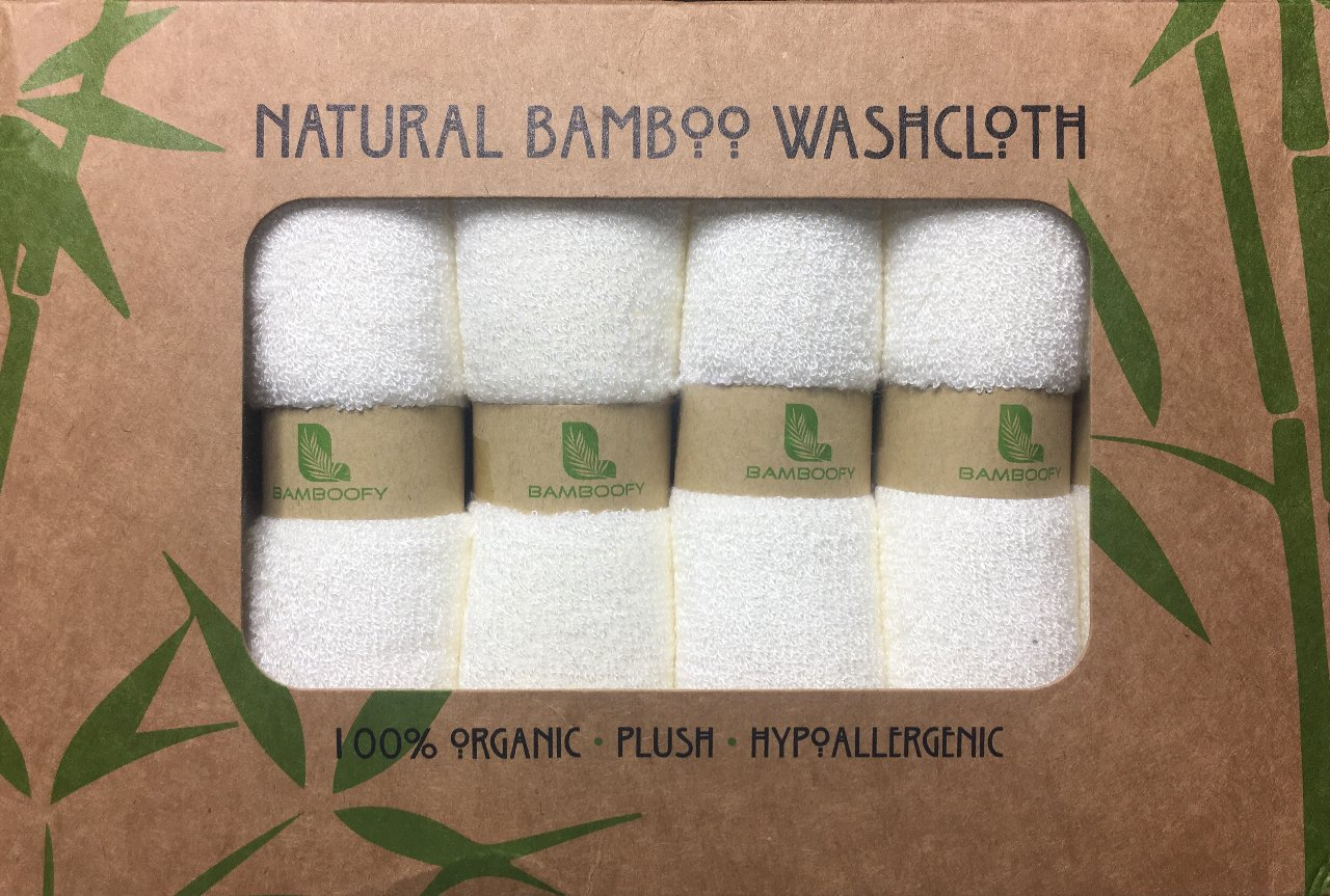Organic Bamboo Washcloths. Gentle For Sensitive Skin- Acne, Rosacea and Eczema. Superior Softness For Babies. Antibacterial For Makeup Removal. Highly Absorbent Cloths (6-pack) presented by BambooFy