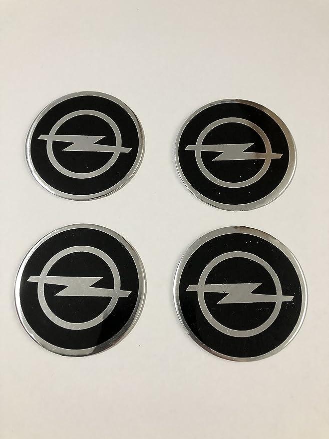 4x Emblema adhesivo de aluminio de Opel para tapacubos de 56 ...