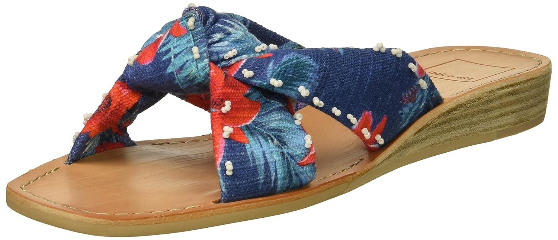 Dolce Vita Women's Haviva Slide Sandal B07BBW1CVM 9 B(M) US|Blue Multi Floral Print
