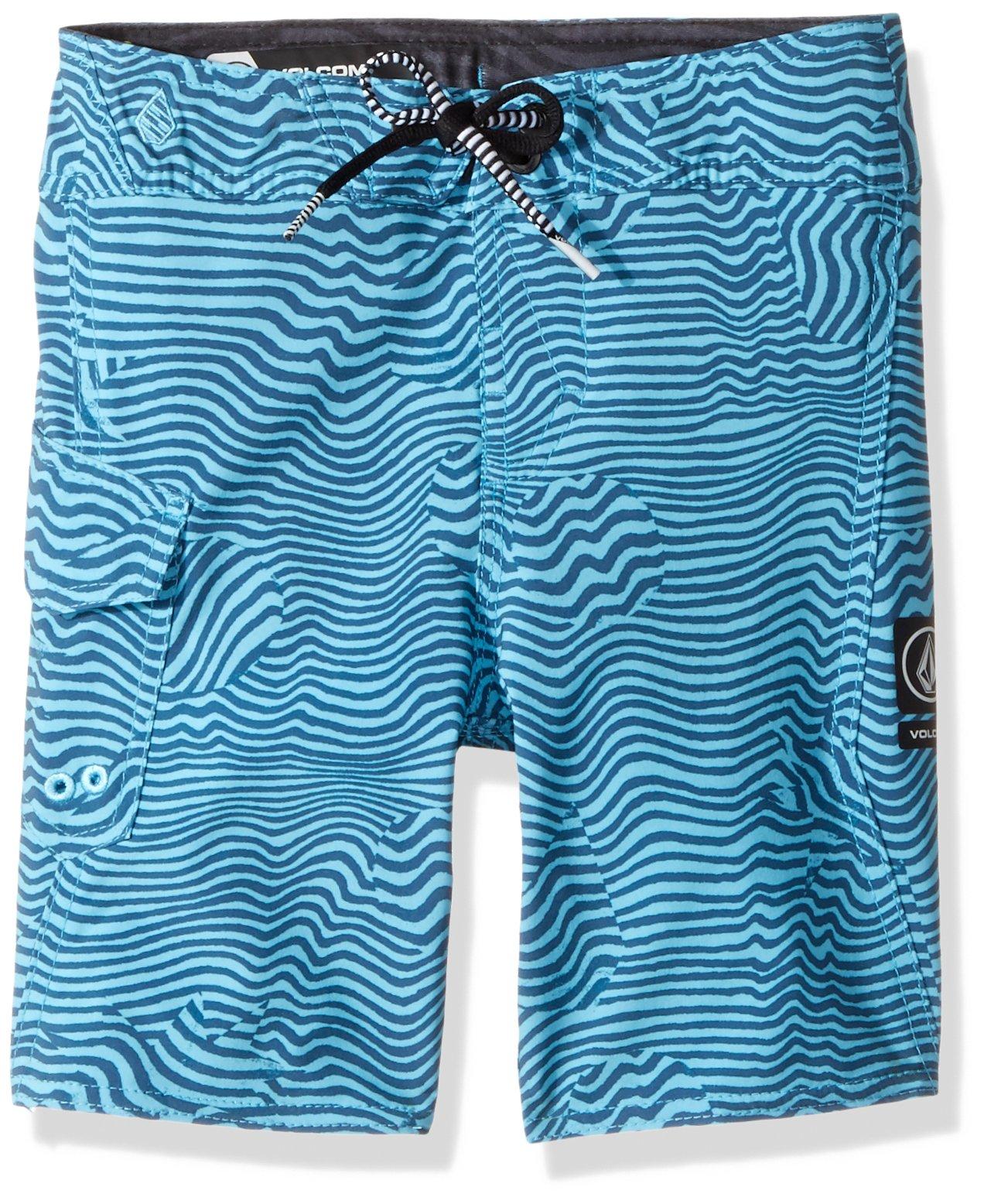 Volcom Little Boys' Magnetic Stone 13.5'' Youth Boardshort, Dusty Aqua, 6