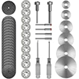 Cutting Wheel Set 36pcs for Rotary Tool, HSS Circular Saw Blades 6pcs, Resin Cutting Discs 20pcs, 545 Diamond Cutting Wheels