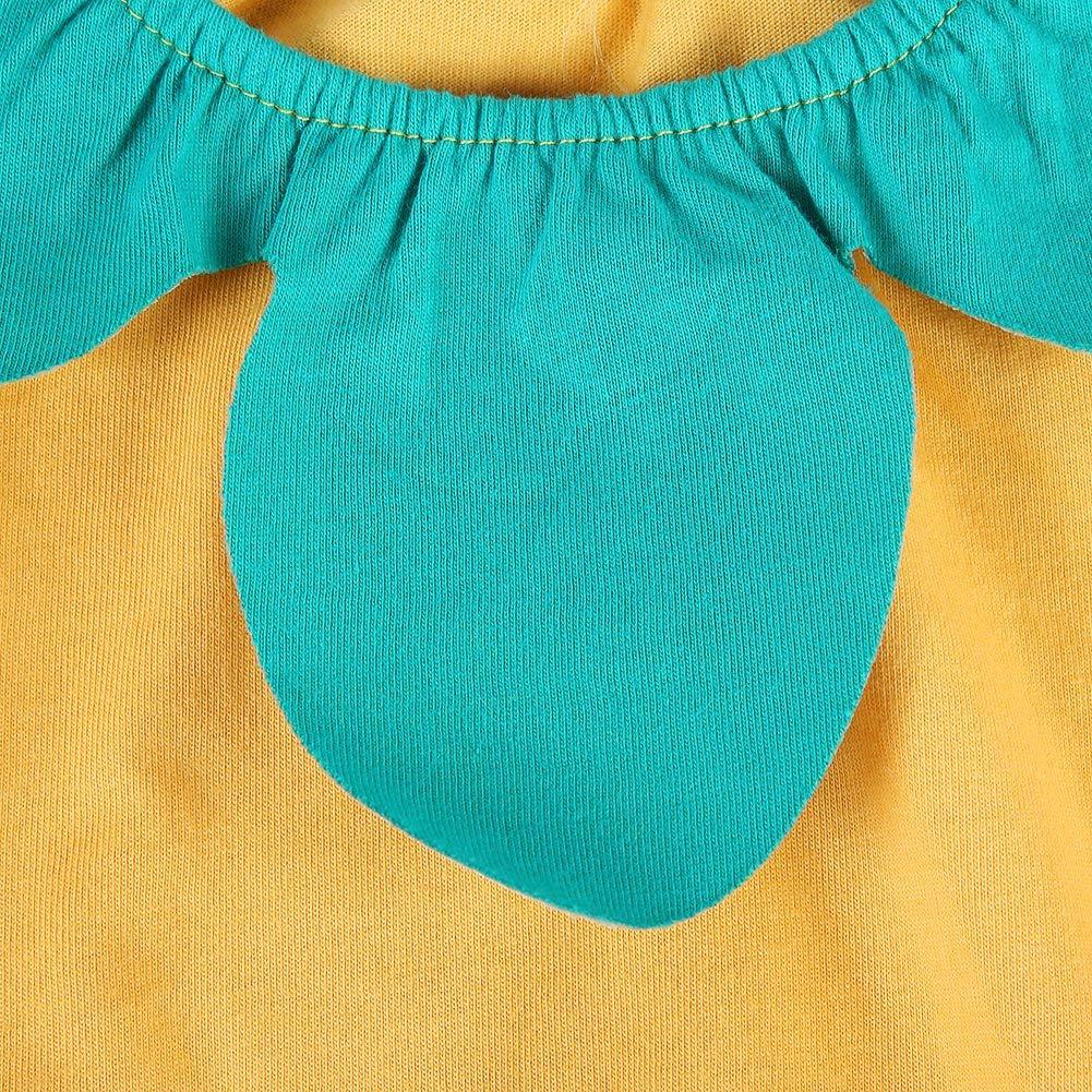 66-Gelbe Ananas Baby-Sommer-Overall-Frucht-Drucken-S/äuglingsmuster-Ausstattungs-Sleeveless Spielanzug-weiche Baumwollausstattungen