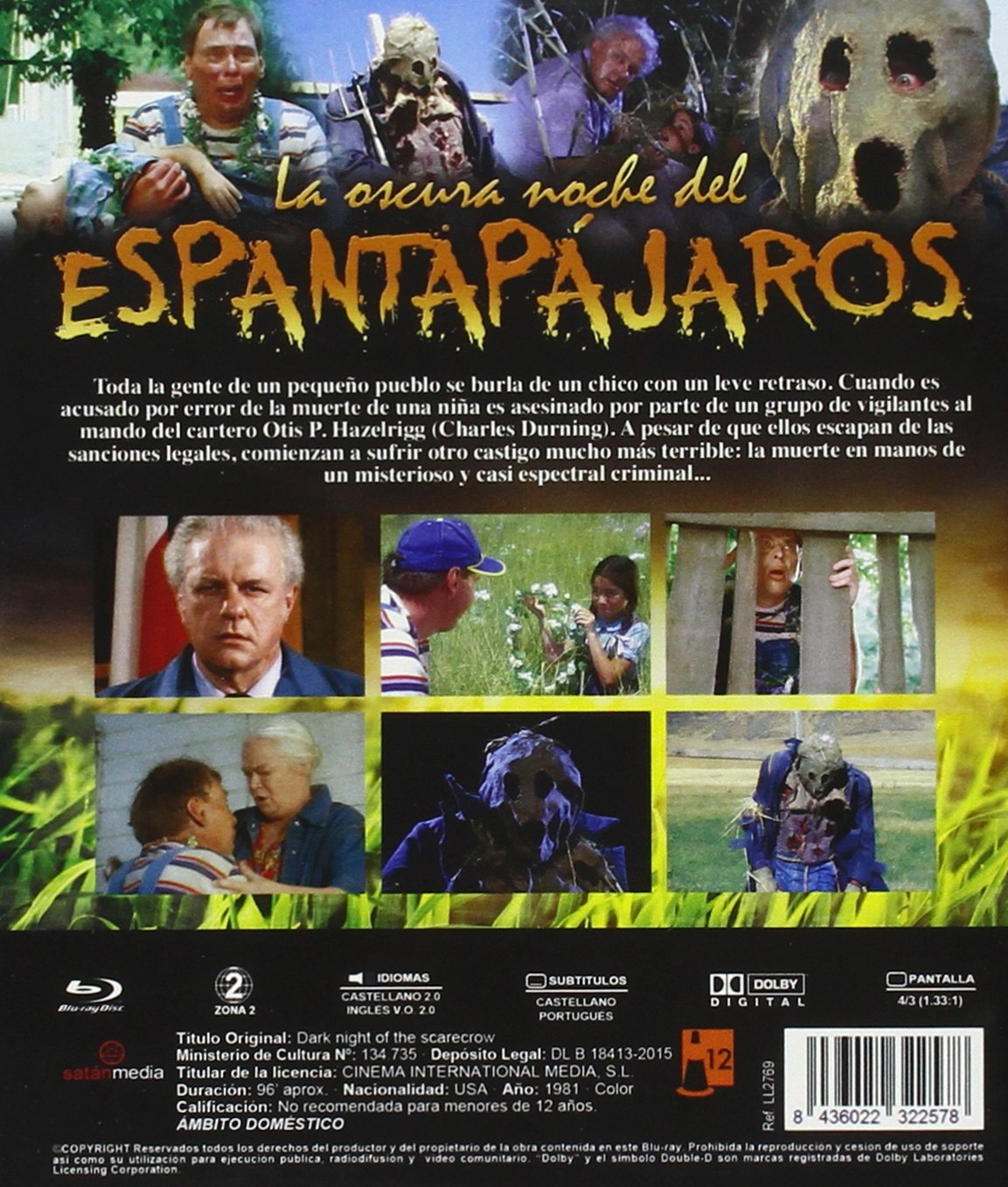 Amazon.com: Dark Night of the Scarecrow (Region B) [ Non-usa Format, Import - Spain ] (Spanish and German Audio): Movies & TV