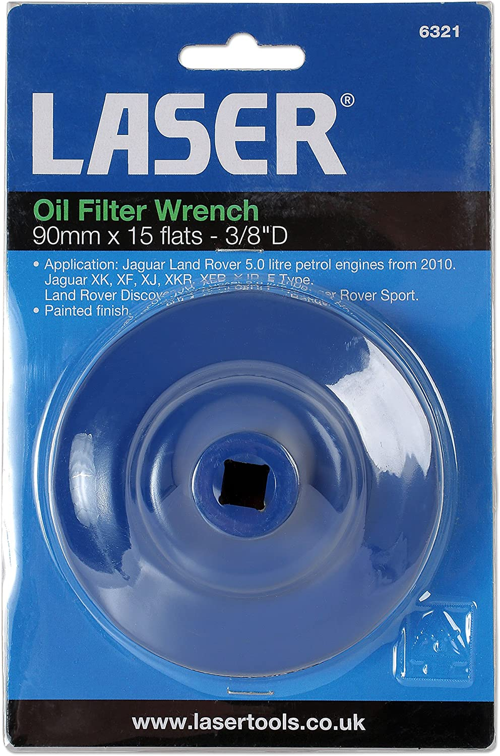 90 mm Laser 6321 15 Flats Oil Filter Wrench