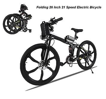 Ncient Bicicletas Electricas de Montaña Plegable, E-bike MTB 250W 30 km/h
